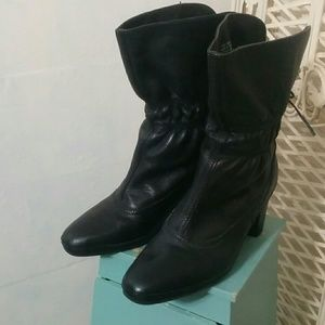 Artisan Back Tie Above Ankle Boots